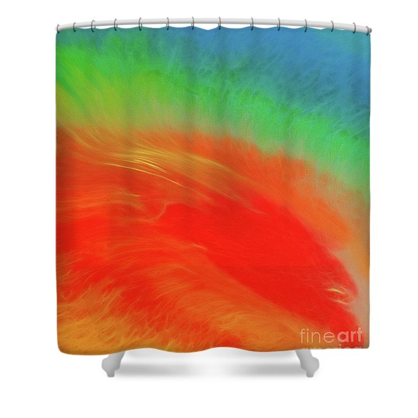 Hot Explosion Shower Curtain