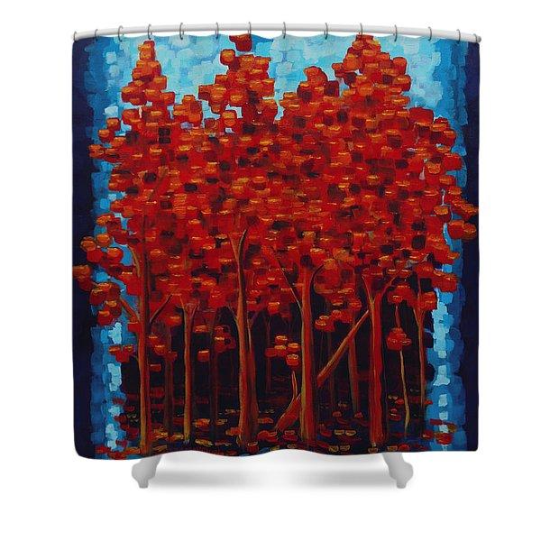 Hot Reds Shower Curtain