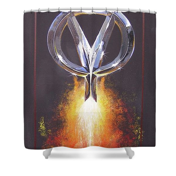 Hot Rod Power  Shower Curtain