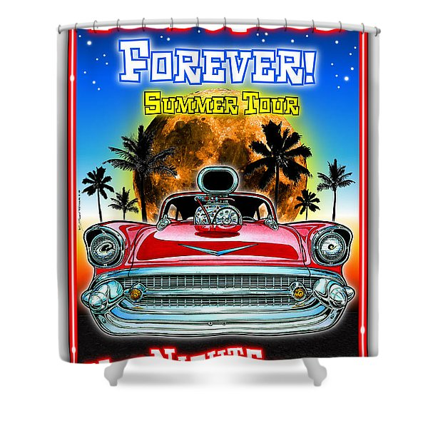 Hot Rods Forever Summer Tour Shower Curtain