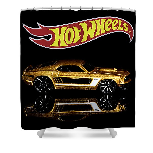 Hot Wheels '69 Ford Mustang Shower Curtain