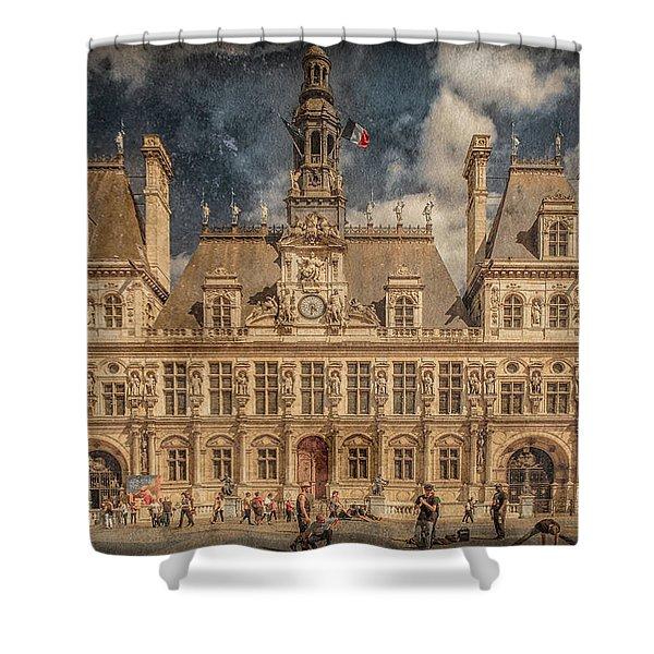 Paris, France - Hotel De Ville Shower Curtain