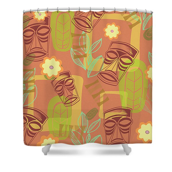Hour At The Tiki Room Shower Curtain