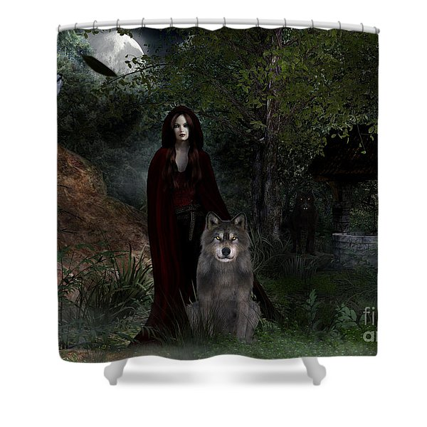 Hour Of The Wolf Shower Curtain