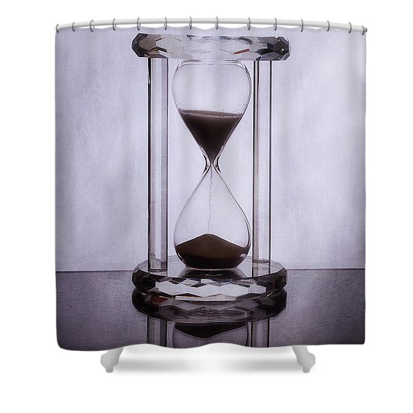 Hourglass - Time Slips Away Shower Curtain