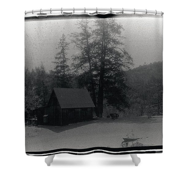 House And Horse Shower Curtain