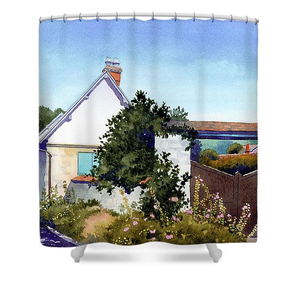 House At Giverny Shower Curtain
