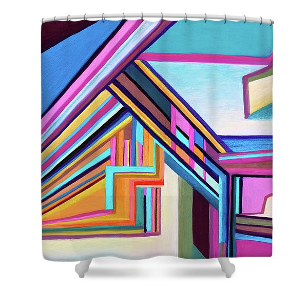 House By The Bay Shower Curtain