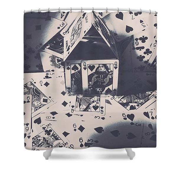 House Of Cards Shower Curtain