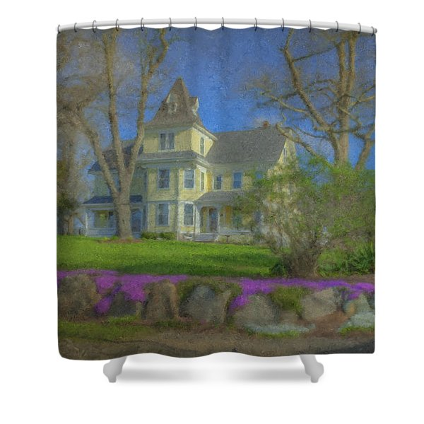 House On Elm St., Easton, Ma Shower Curtain