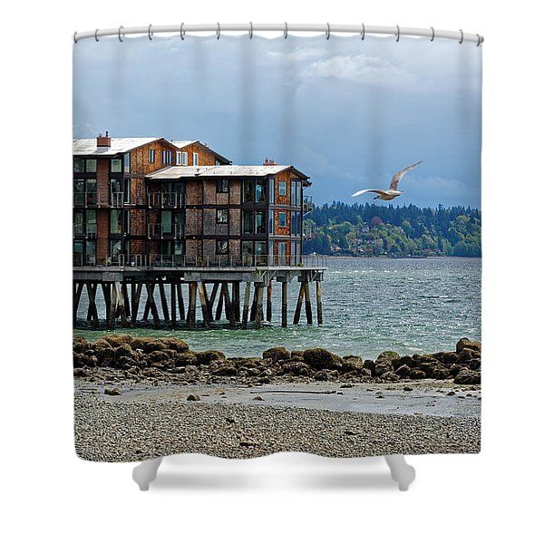House On Stilts Shower Curtain