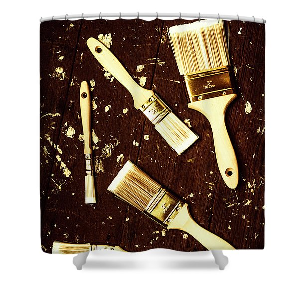 House Paint Abstract Shower Curtain