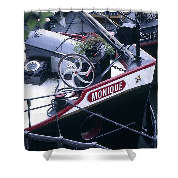 Houseboat In France Shower Curtain