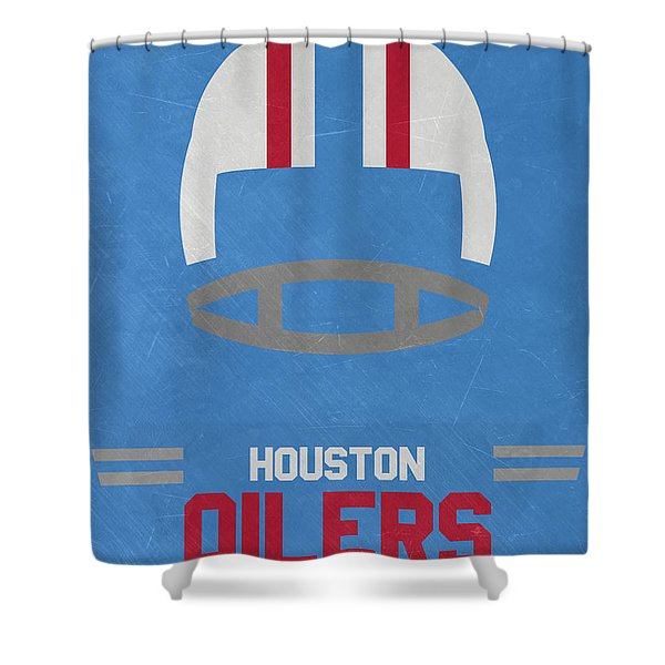 Houston Oilers Vintage Art Shower Curtain