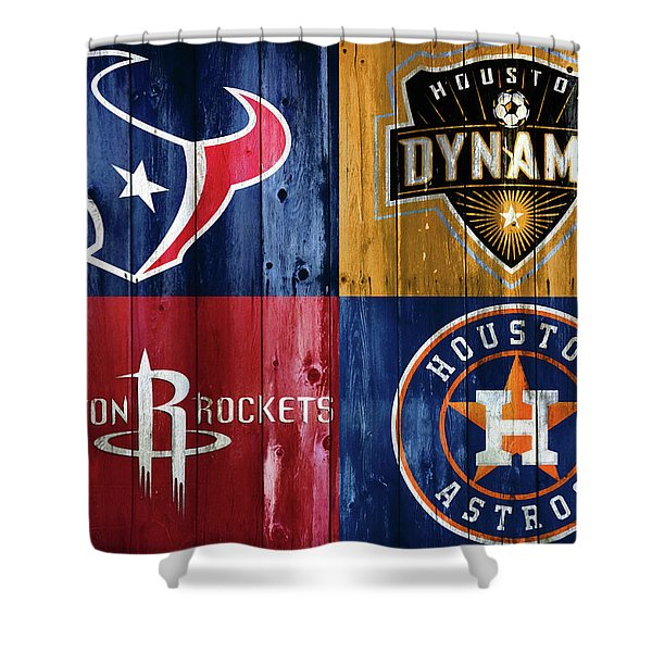 Houston Sports Teams Barn Door Shower Curtain