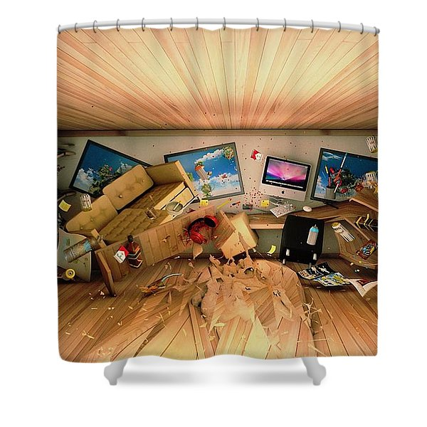How Long Was I Gone Update Art Abstract Shower Curtain