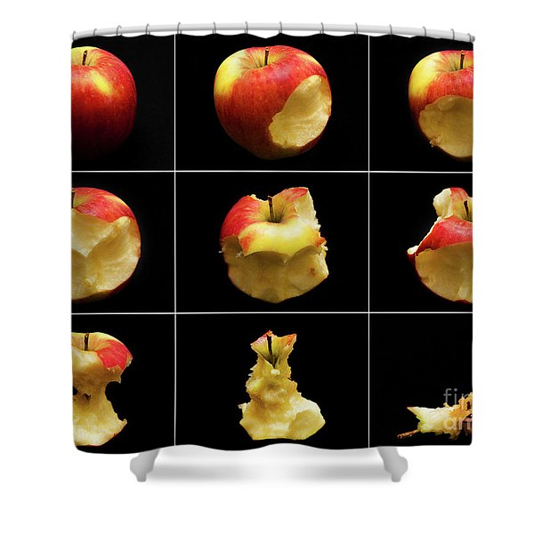 How To Eat An Apple In 9 Easy Steps Shower Curtain