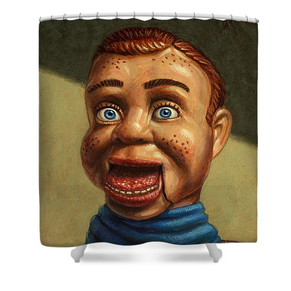 Howdy Doody Dodged A Bullet Shower Curtain