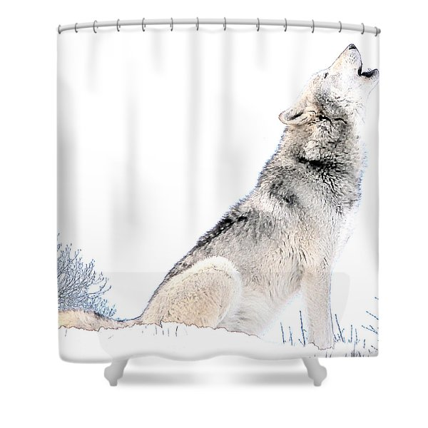 Howling Wolf 1 Shower Curtain