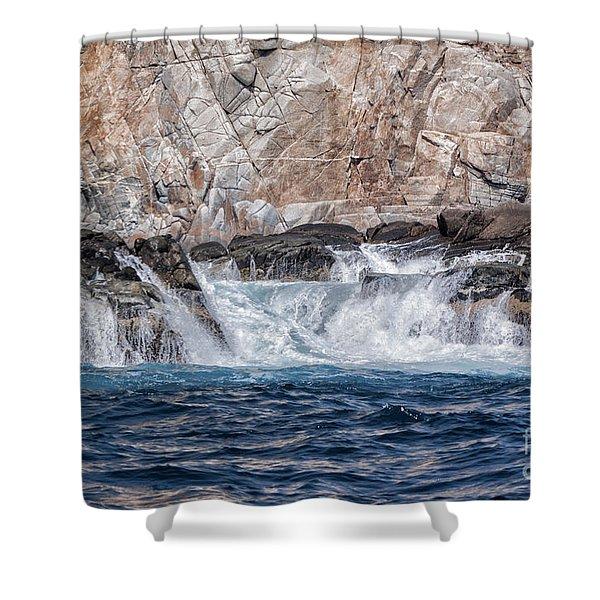 Huatulco's Texture Shower Curtain