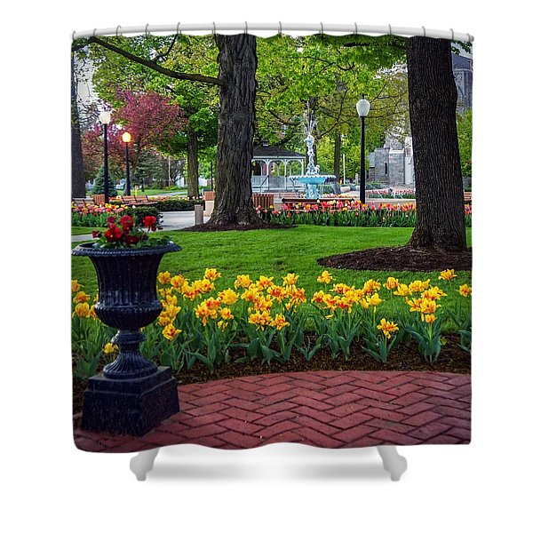 Hudson Falls...a Great Place To Call Home Shower Curtain