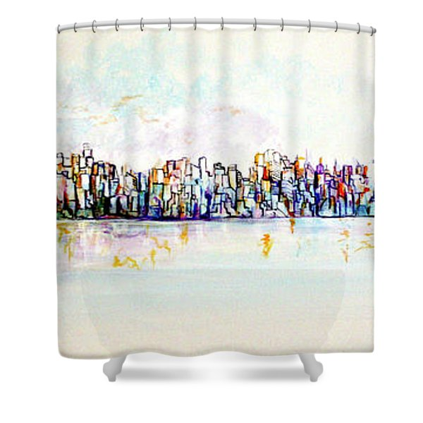 Hudson River View Shower Curtain