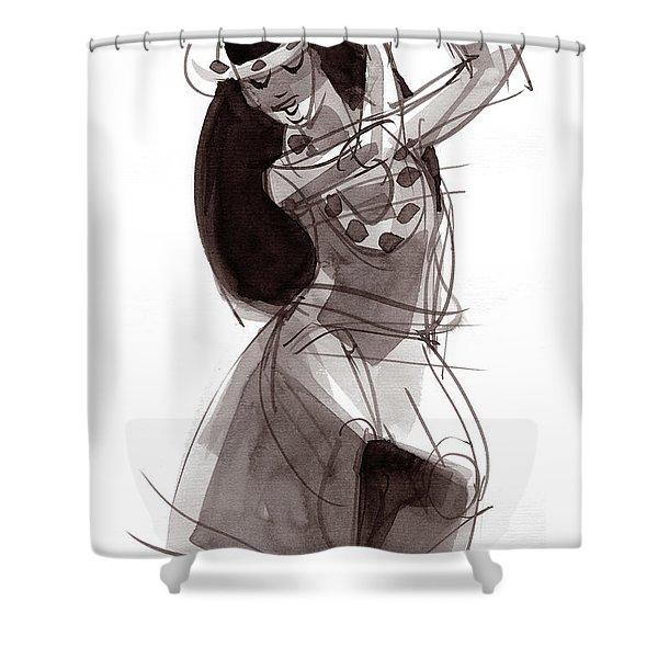 Hula Dancer Alika Shower Curtain