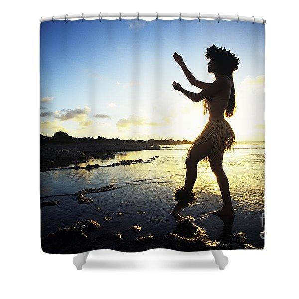 Hula Silhouette Shower Curtain