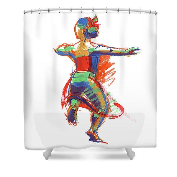 Hula Wahine Ikaika Shower Curtain