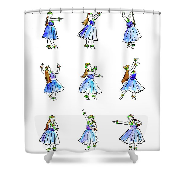 Hula X 9 Shower Curtain