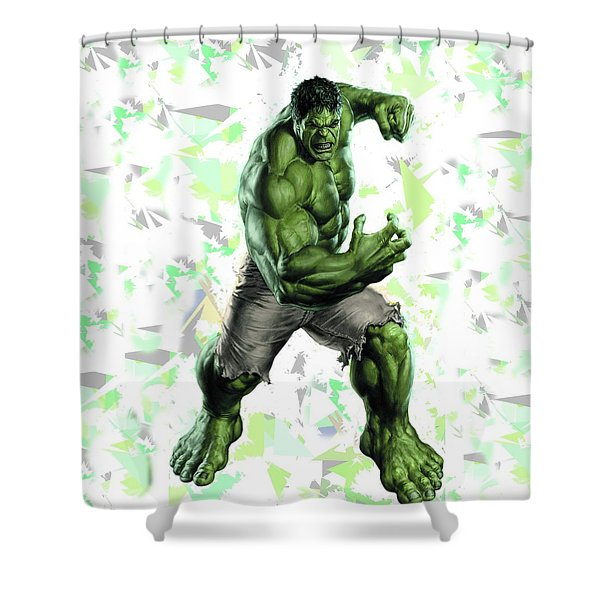 Hulk Splash Super Hero Series Shower Curtain