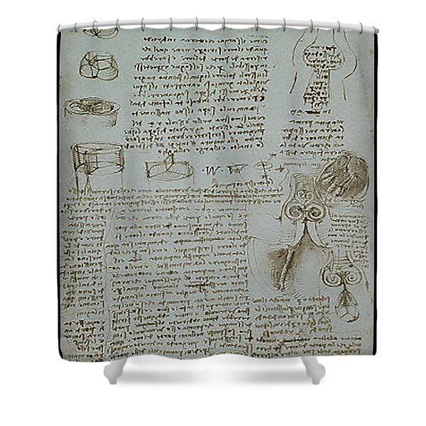 Human Study Notes Shower Curtain