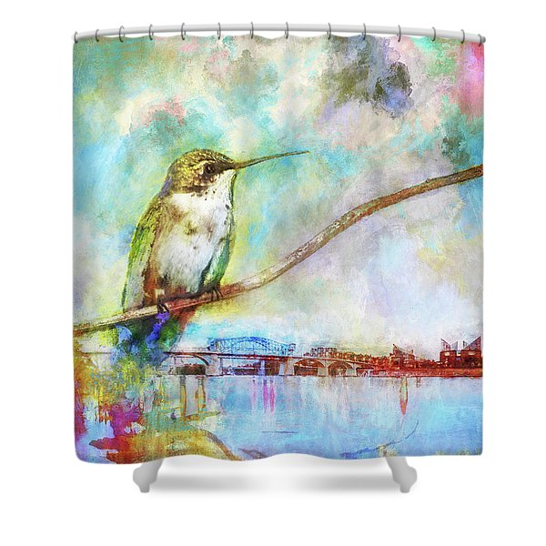 Hummingbird By The Chattanooga Riverfront Shower Curtain