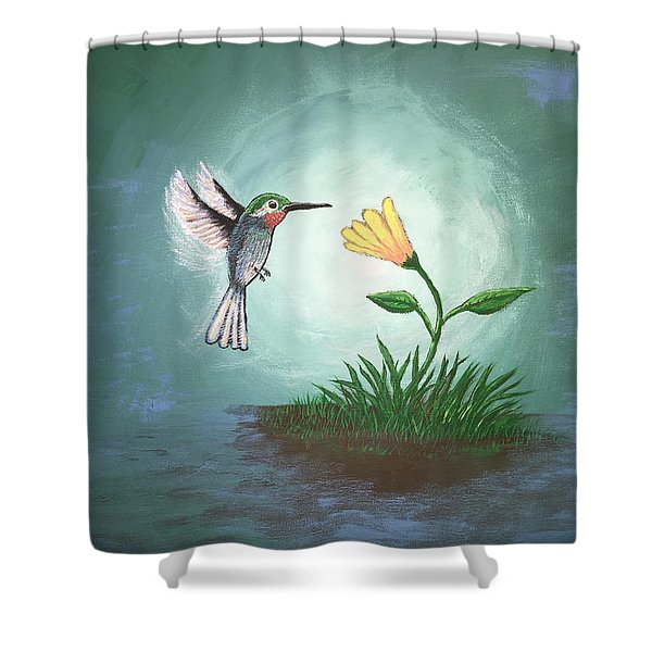 Shower Curtain featuring the painting Hummingbird II by Antonio Romero