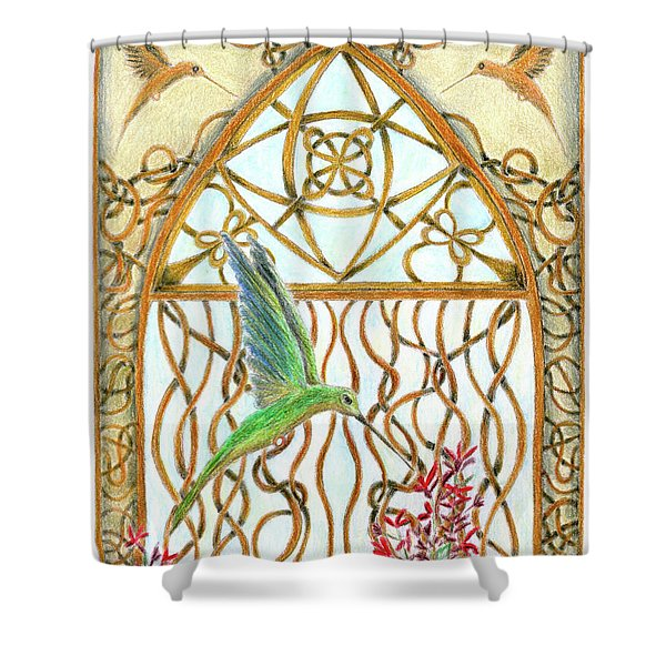 Hummingbird Sanctuary Shower Curtain