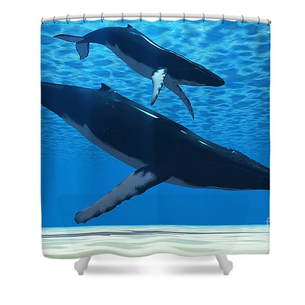 Humpback Mother Shower Curtain