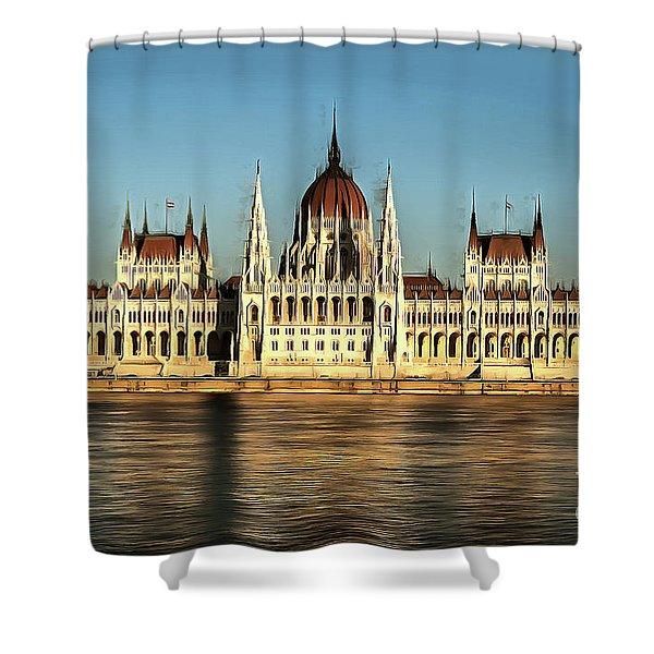 Hungarian National Parliament Shower Curtain