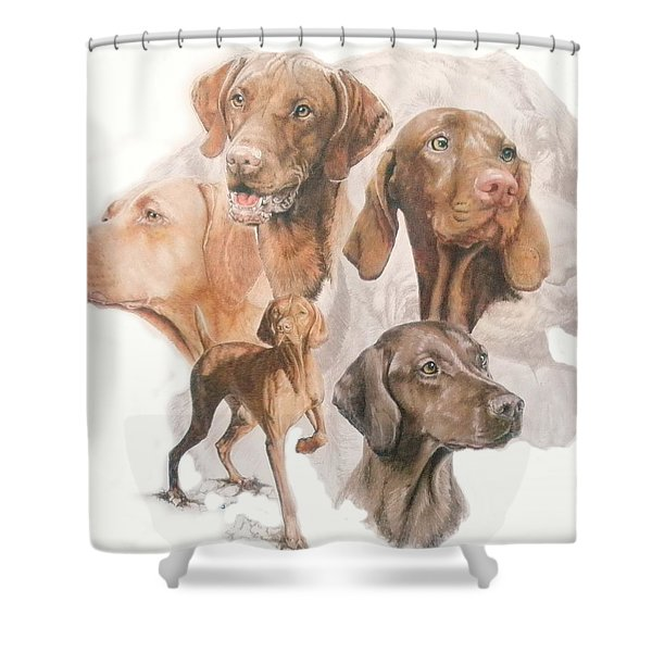 Hungarian Vizsla Medley Shower Curtain