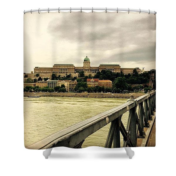 #hungary #budapest Shower Curtain