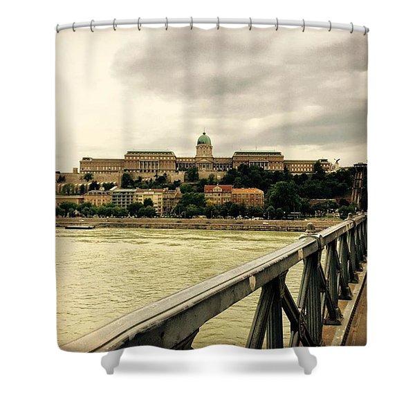 #hungary #budapest Shower Curtain