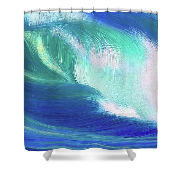 Hungry Ocean Shower Curtain