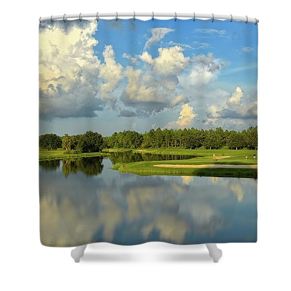 Hunter's Green Hole 18 Shower Curtain
