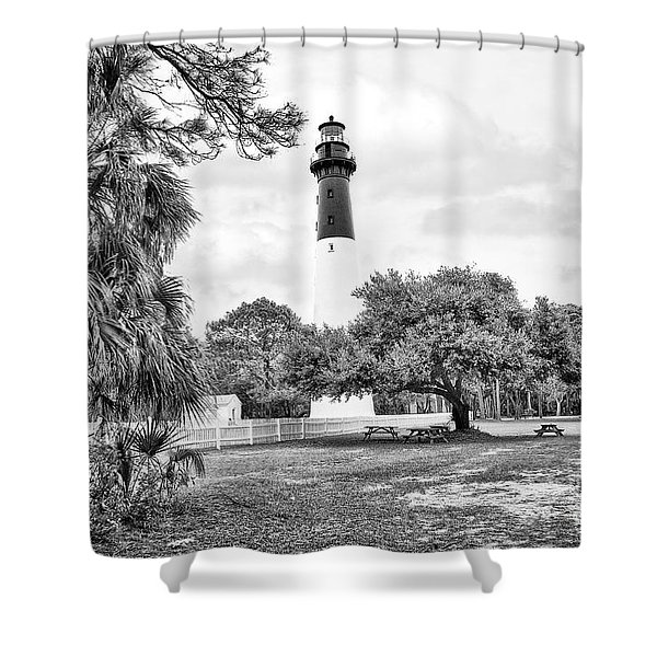 Hunting Island Lighthouse Shower Curtain