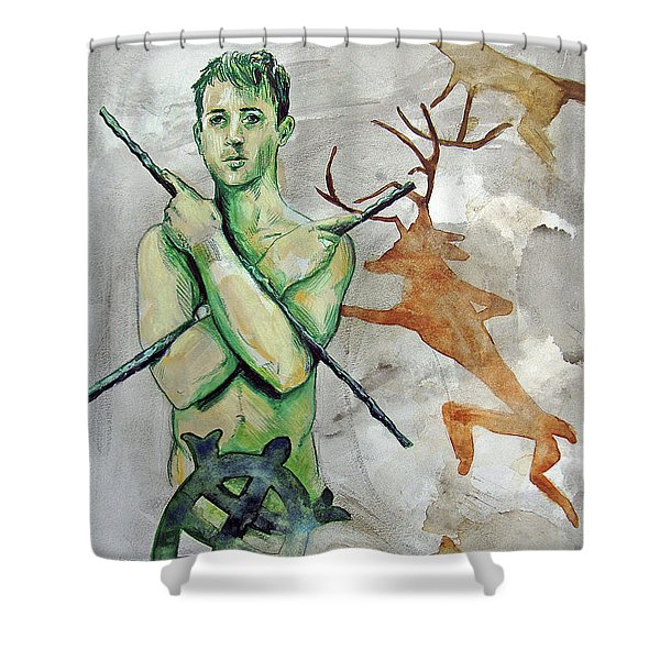 Youth Hunting Turtles Shower Curtain