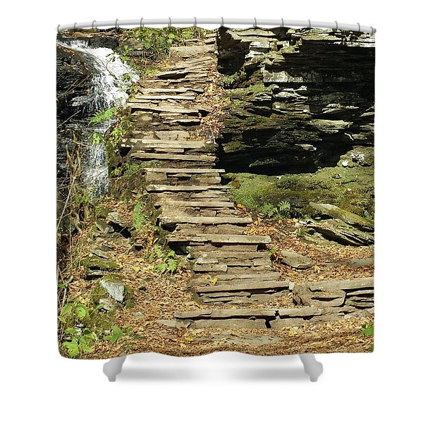 Huron 2 - Ricketts Glen Shower Curtain