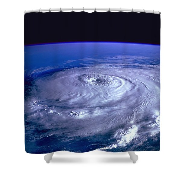 Hurricane From Space Shower Curtain