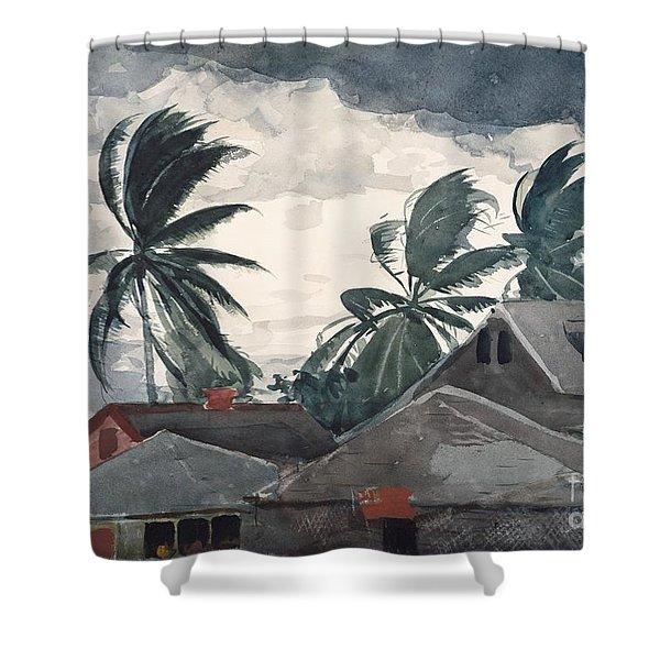Hurricane In Bahamas Shower Curtain
