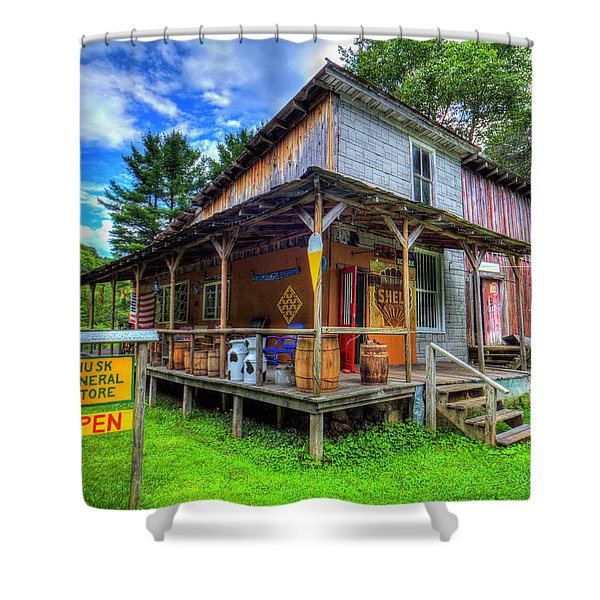 Husk General Store Shower Curtain