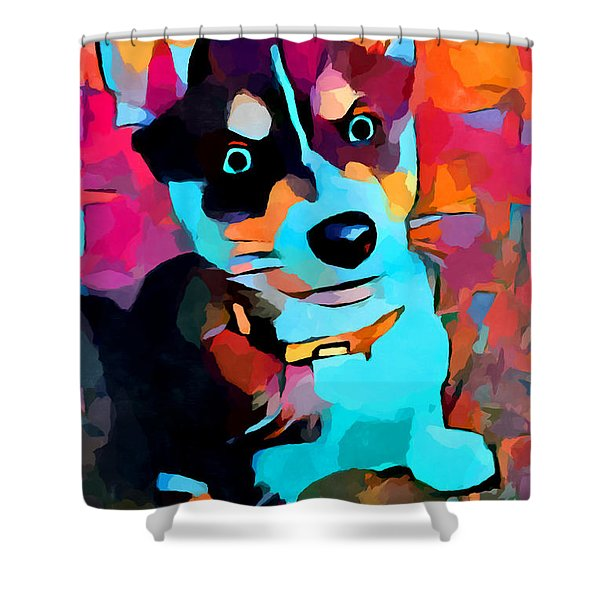 Husky 3 Shower Curtain