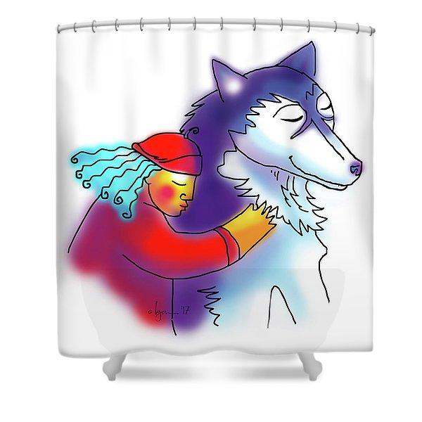 Husky Love Shower Curtain
